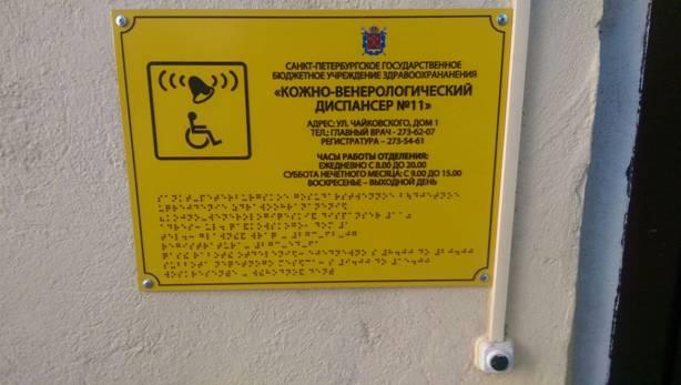 Кнопка вызова персонала для обращения инвалидов о помощи сопровождения к месту услуги